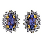 more details on 18ct Gold Plated Silver Tanzanite and Diamond Earrings.
