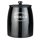 more details on Collection Eve Traditional Ceramic Bread Bin - Black.