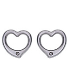 more details on Sterling Silver Open Heart Diamond Stud Earrings.