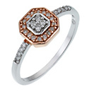 more details on Silver and Rose Gold Diamond Ring.