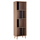more details on Hygena Berkeley Tall Bookcase - Black and Walnut.