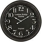 more details on Premier Housewares Black Iron, Glass and Paper Wall Clock.