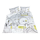 more details on London Illustration Bedding Set - Double.