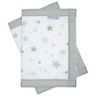 more details on Airwrap Mesh 2 Sided Mesh Cot Bumper - Silver Stars.