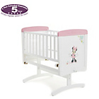 more details on Disney Minnie Mouse Gliding Crib - White with Pink Trim.
