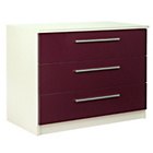 more details on Sparkle 3 Drawer Chest - Plum.