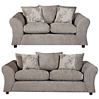 more details on Clara Large and Regular Fabric Sofas - Mink.