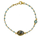 more details on 9ct Gold Plated Silver Apatite and Blue Chalcedony Bracelet.