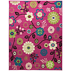 more details on Funky Floral Pink Rug - 120 x 160cm.