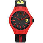 more details on Scuderia Ferrari Mens' Pit Crew Red and Black Strap Watch.