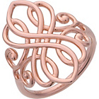 more details on 9ct Rose Gold Plated Silver Twisted Rope Filigree Ring.