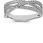 more details on Sterling Silver CZ Crossover Eternity Ring - Size P.