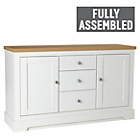 more details on Heart of House Westbury 2 Door 3 Dwr Large Sideboard - White
