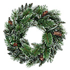 more details on Prelit Wreath Christmas Decoration - Snowtipped