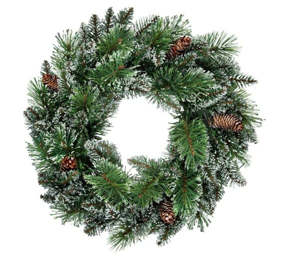 Christmas Decorations And Trees Uk : Buy heart of house prelit wreath christmas decoration