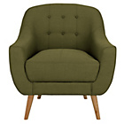 more details on Hygena Lexie Fabric Chair - Olive Green.