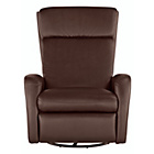 more details on Collection Rock-R-Round Leather Eff Recliner Chair - Choc.