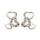 more details on Silver Cubic Zirconia Triple Heart Stud Earrings.