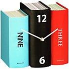 more details on Premier Housewares Blue, Red and Black Book Table Clock.