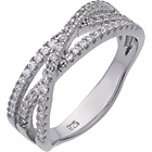 more details on Sterling Silver CZ Crossover Eternity Ring.