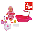 more details on Chad Valley Babies to Love 12 Piece Doll and Bathtime Set.