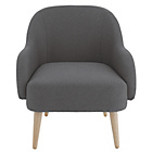 more details on Habitat Momo Charcoal Armchair.