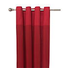 more details on HOME Dublin Unlined Eyelet Curtains - 117 x 183cm - Red.