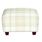 more details on Marseille Footstool - Natural Plaid.