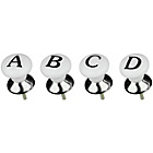 more details on Premier Housewares Set of 4 Letters Drawer Knobs.