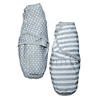 more details on Summer Infant 2 Pack Grey Dot & Stripe SwaddleMe.