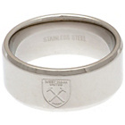 more details on Stainless Steel West Ham Ring - Size R.