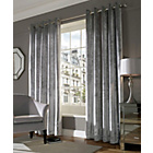 more details on Lux Eyelet Curtains - 168 x 183cm - Silver.