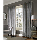 more details on Lux Eyelet Curtains - 168 x 137cm - Silver.