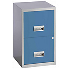 Pierre Henry 2 Drawer Filing Cabinet - Maya Blue