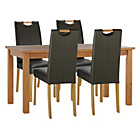 more details on Wilden Oak Stain 120cm Table & 4 Chocolate Mid Back Chairs.