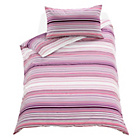 more details on Stripy Pink Twin Pack Bedding Set - Single.
