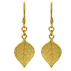 more details on 9ct Gold Plated Sterling Silver Leaf Drop Earrings.