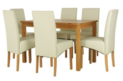 Buy HOME Lincoln Solid Wood Table amp 6 Skirted Chairs  : 4129107RSETTMBampwid620amphei620 from www.argos.co.uk size 620 x 620 jpeg 22kB
