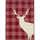 more details on Stag Rug 120 x 160cm - Red.