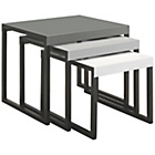more details on Habitat Kilo Metal Nest of Tables - Grey.