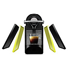 more details on Nespresso Pixie Clips Coffee Machine - Black and Neon Yellow