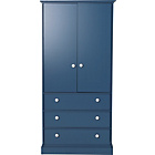 more details on Stowe 2 Door Wardrobe - Blue.