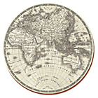 more details on Opulence Globe Round Mats and Coasters Pack of 4.