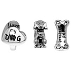 more details on Sterling Silver Dog Beads - Set of 3.