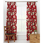 more details on Elissia Poppy Unlined Pencil Pleat Curtains 168x183cm - Red.