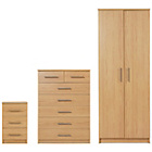 more details on Normandy 3 Piece Wardrobe Package - Oak Effect.