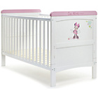 more details on Disney Minnie Mouse Deluxe Cot Bed - White with Pink Trim.