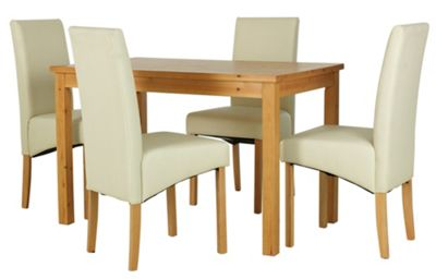 Buy HOME Lincoln Solid Pine Table amp 4 Chairs Oak Effect  : 4131157RSETTMBampwid620amphei620 from www.argos.co.uk size 620 x 620 jpeg 23kB