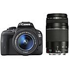 more details on Canon EOS 100D DSLR Camera with 18-55mm & 75-300mm IS Lenses