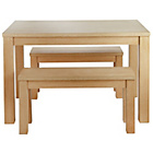 more details on Siena Wood Effect 150cm Dining Table and 2 Large Benches.